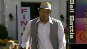 Cress Williams sharpened a lavender button-up with an open gray vest.
