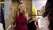 Vanessa Ray was radiant in red on 'Pretty Little Liars' in this belted halter dress.