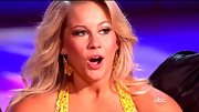 Shawn Johnson played up the yellow of her gown with dazzling citrus-hued drop earrings.