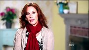 Melissa Gilbert kept cozy in the dance studio with a red scarf wrapped securely around her neck.