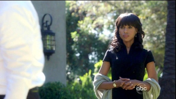 More Pics of Kerry Washington Medium Curls with Bangs (1 of 9) - Shoulder Length Hairstyles Lookbook - StyleBistro