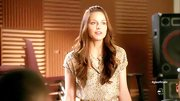 Melissa Benoist chose this patterned button down for her look on 'Glee.'