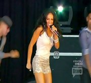 Melissa Gorga strutted her stuff on stage in pair of super sparkly sequined hot pants.