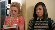 Ellen Wong opted for her signature crew neck sweater in 'The Carrie Diaries.'