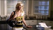 "Ashley Benson is no shrinking violet on 'Pretty Little Liars,' so the bold printed ""Donatella"" dress was a no-brainer."