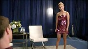 Hayden Panettiere showed a lot of leg in this sparkly pink mini dress.