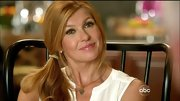 Connie Britton sweetened her style with a delicate heart necklace.