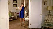 Elizabeth Hurley's character on 'Gossip Girl' shares her real life love of tight clothes. Here, Liz shows off her curves in a royal blue bodycon dress.