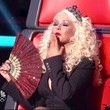 Christina Aguilera's Structured Black Jacket on 'The Voice'