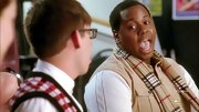 A classic plaid scarf kept Alex Newell's look clean and sophisticated on 'Glee.'