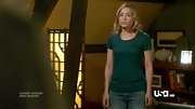 Piper Perabo recovered from her stint in the hospital on 'Covert Affairs' in a forest green T-shirt.