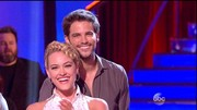 Pro dancer Peta Murgatroyd looked great in clear hoop earrings.