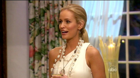 Emily Maynard perfected her island vibe with layer upon layer of pearly shells.