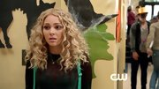 AnnaSophia Robb's brown and green icicle design sweater was preppy cool on 'The Carrie Diaries.'