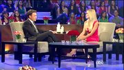 Emily Maynard got a boost on 'The Bachelorette: Men Tell All' episode from a pair of towering nude platforms.