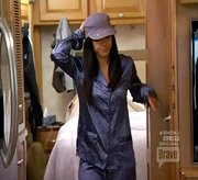 Teresa Giudice spiced up the RV with satin leopard print pjs.