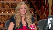 This feathered bolero looked absolutely stunning on 'American Idol' judge Mariah Carey.