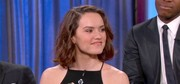 Daisy Ridley (aka 'Rey' from Star Wars) wore her hair in a wavy mid-length bob for a recent appearance on Jimmy Kimmel Live.
