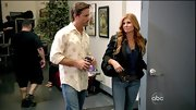 Connie Britton kept her jeans business appropriate with a black blazer.