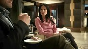 Lucy Liu was pretty in pink on 'Elementary' in a classic button-down.