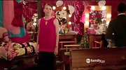 Sutton Foster showed just a glimpse of skin on 'Bunheads' in a ruby red keyhole neck tunic.