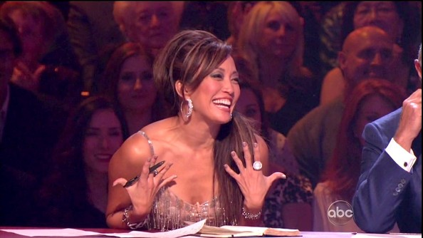 Carrie Ann Inaba likes to bring on the bling...
