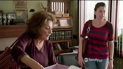Sutton Foster kept things simple on 'Bunheads' with a tonal striped sweater.