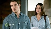 Julie Gonzalo and Josh Henderson looked like denim models on 'Dallas' in practically matching chambray button-downs.