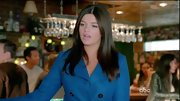 Casey Wilson kept warm on 'Happy Endings' in a classic blue pea coat.