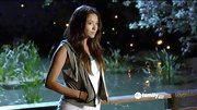 Shay Mitchell looked extra sport on 'Pretty Little Liars' in a hoodie vest.