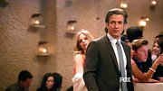 Dermot Mulroney looked dapper as ever in this black suit, which he sported on 'New Girl.'