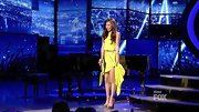 Jessica Sanchez's sunny yellow dress was right on trend thanks to its bright complexion flattering shade and high-low hem.
