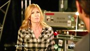 Connie Britton was more than a little bit country on 'Nasvhille' in this plaid button-down top.