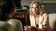 Ashley Benson played up her peaches and cream complexion on 'Pretty Little Liars' with a sorbet-hued blazer.