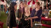 Emma Dumont had an eclectic festival style on 'Bunheads' in a cropped purple jacket and floral skirt.