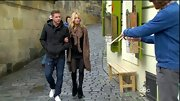 Emily Maynard trekked through Prague in a pair of funky fringed booties.