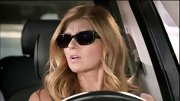 Connie Britton looked like a movie star in these black elongated shades.