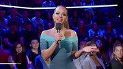 Christina Milian showed off her curves in a major way on 'The Voice' in a tight ombre bandage dress.