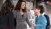 Andie MacDowell was polished as ever on 'Jane by Design' in a fitted tweed coat.