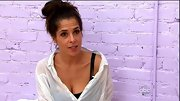 Kelly Monaco had a 'Risky Business' vibe on 'DWTS' in this rumpled white button-down.