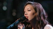 Amy Vachal perfectly matched her nails and lips for a performance on 'The Voice'.