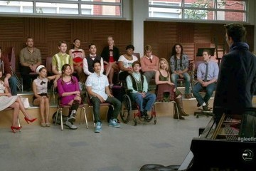 Lea Michele Heather Morris Glee Season 3 Episode 22
