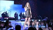 Connie Britton sparkled on stage in a shiny mini dress!