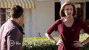 Brenda Strong commanded attention in a versatile burgundy sweater on 'Dallas.'